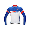 ieftine Jerseru Cycling-SANTIC Bărbați Manșon Lung Jerseu Cycling Bicicletă Jerseu, Uscare rapidă, Rezistent la Ultraviolete, Respirabil Poliester