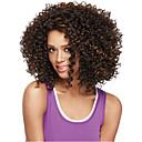 billige Syntetiske parykker uden hætte-Syntetiske parykker Krøllet Syntetisk hår Afro-amerikansk paryk Paryk Dame Medium Lågløs