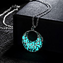 cheap Necklaces-Women's Hollow Pendant Necklace - Crescent Moon Luminous Green, Blue, Light Blue Necklace Jewelry For Wedding, Party, Daily