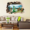 preiswerte Wand-Sticker-Tiere 3D Retro Fantasie Wand-Sticker Tier Wandaufkleber Dekorative Wand Sticker, Vinyl Haus Dekoration Wandtattoo Wand