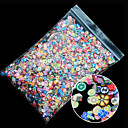 cheap Rhinestone & Decorations-1pack polymer clay 3d nail art mix flowers feather fruit fimo nail stickers decorations