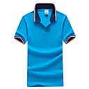 preiswerte Kleideruhr-Herrn Einfarbig Sport Übergrössen Baumwolle Polo, Hemdkragen