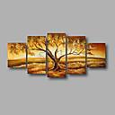 billige Trykk-Hang malte oljemaleri Håndmalte - Landskap Moderne Inkluder indre ramme / Stretched Canvas