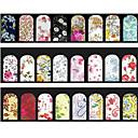 baratos Acessórios para MacBook-5 pcs Adesivo de transferência de água arte de unha Manicure e pedicure Flor / Fashion Diário / PVC
