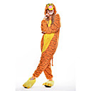 cheap Kigurumi Pajamas-Adults' Kigurumi Pajamas Tiger Onesie Pajamas Polar Fleece Yellow Cosplay For Men and Women Animal Sleepwear Cartoon Halloween Festival / Holiday