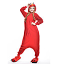 cheap Kigurumi Pajamas-Adults' Kigurumi Pajamas Monster Cookie Anime Animal Onesie Pajamas Polar Fleece Red Cosplay For Men and Women Animal Sleepwear Cartoon Festival / Holiday Costumes