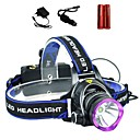 cheap Flashlights & Camping Lanterns-LS1792 Headlamps LED 2000lm 3 Mode with Batteries and Chargers Zoomable / Adjustable Focus / Impact Resistant Camping / Hiking / Caving /