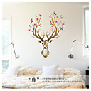 cheap Wall Stickers-Landscape Animals Wall Stickers Animal Wall Stickers Decorative Wall Stickers, Vinyl Home Decoration Wall Decal Wall Decoration