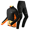 cheap RC Parts & Accessories-KORAMAN Men's Long Sleeve Cycling Jacket with Pants - Black / Black / Red / Black / Yellow Bike Padded Shorts / Chamois / Clothing Suit, 3D Pad, Thermal / Warm, Quick Dry Spandex / Breathable