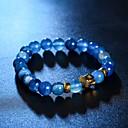 זול תכשיטי דת-קריסטל צמידי Strand - קריסטל ראש צמידים ורד / חום / כחול עבור Christmas Gifts / יומי / קזו'אל