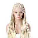 cheap Synthetic Capless Wigs-fashion synthetic wigs lace front wigs 32inch braided yellow heat resistant hair wigs women