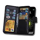 olcso Mobiltelefon tokok & Képernyő védők-Case Kompatibilitás LG G3 LG LG G5 LG G4 LG tok Kártyatartó Pénztárca Flip Mágneses Héjtok Tömör szín Kemény PU bőr mert