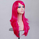 cheap Synthetic Capless Wigs-Synthetic Wig Curly / Natural Wave Asymmetrical Haircut Synthetic Hair Natural Hairline Red Wig Women's Medium Length / Long Capless