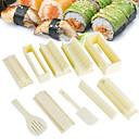 abordables Utensilios de cocina y Gadgets-1set fácil de usar fabricante de sushi bricolaje molde de arroz cocina de sushi juego de herramientas para sushi roll accessaries herramienta de cocina