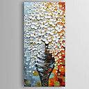 cheap Abstract Paintings-Oil Painting Hand Painted - Floral / Botanical Modern Canvas