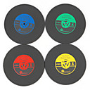 cheap Drinkware Accessories-Retro Record Vinyl Coaster Cup Mat Heat Resistant Placemat for Music Lover