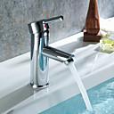 cheap Bathroom Sink Faucets-Widespread Ceramic Valve Single Handle Five Holes Chrome, Bathroom Sink Faucet
