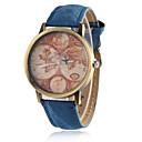 preiswerte Modische Uhren-Damen Armbanduhr Armbanduhren für den Alltag PU Band Retro / Modisch / Weltkarte Muster Schwarz / Weiß / Blau / Ein Jahr / Tianqiu 377
