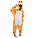 ieftine Carcase, Genți & Curele-Pijama Kigurumi Girafă Pijama Întreagă Costume Flanel Lână Portocaliu Cosplay Pentru Pentru copii Sleepwear Pentru Animale Desen animat