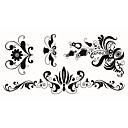 preiswerte Tattoo-Aufkleber-5 pcs Tattoo Aufkleber Temporary Tattoos Totem Serie / Tier Serie / Blumen Serie Körperkunst Gesicht / Korpus / Hände