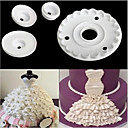 cheap Cake Molds-Lace Skirt Rim Plunger Cutter Doll Decorate Cake Mold Sugarcraft Fondant Kitchen Baking Cookie,Set of 4