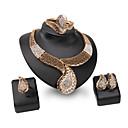 זול תכשיטי גוף-בגדי ריקוד נשים סט תכשיטים - אבן נוצצת מותאם אישית, וינטאג', אופנתי לִכלוֹל זהב עבור חתונה / Party / אירוע מיוחד / טבעות / צמיד
