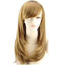 cheap Hair Accessories-Synthetic Wig Straight Asymmetrical Haircut Synthetic Hair Natural Hairline Brown Wig Women's Medium Length / Mid Length Capless