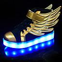 رخيصةأون أحذية الفتيات-صبيان / فتيات أحذية اصطناعي ربيع / صيف / خريف مريح / أحذية مضيئة أحذية رياضية دانتيل / LED إلى أسود