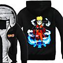 tanie Kostiumy anime-Zainspirowany przez Naruto Naruto Uzumaki Anime Kostiumy cosplay Bluzy Cosplay Nadruk Długi rękaw Top Na Męskie