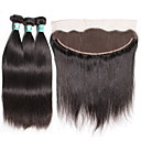 cheap One Pack Hair-Indian Hair Straight Virgin Human Hair Hair Weft with Closure Human Hair Weaves Soft Human Hair Extensions