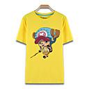 tanie Kostiumy anime-Zainspirowany przez Jednoczęściowe Tony Tony Chopper Anime Kostiumy cosplay T-shirt Cosplay Nadruk Krótki rękaw Top Na Męskie / Damskie