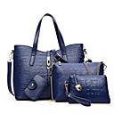 baratos Conjunto de Bolsas-Mulheres Bolsas PU Tote / Capa Prootetora Conjunto de bolsa de 4 pcs Marron / Vermelho / Azul