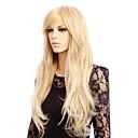 abordables Perruques de Cosplay de jeux vidéos-Perruque Synthétique Bouclé / Ondulation Naturelle Style Coupe Asymétrique Sans bonnet Perruque Blond Blonde Cheveux Synthétiques Femme Soirée Blond Perruque Long Perruque de Cosplay