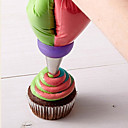 halpa Leivontavälineet-1kpl Ruostumaton teräs Kakku Cookie Piirakka Koristeluväline Bakeware-työkalut