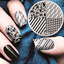 cheap Nail Stamping-2016 latest version fashion geometric pattern nail art stamping image template plates