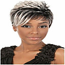 cheap Synthetic Capless Wigs-Synthetic Wig Curly Synthetic Hair African American Wig Gray Wig Women's Short Capless