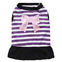 cheap Wall Stickers-Cat Dog Dress Dog Clothes Floral / Botanical Purple Pink Cotton Costume For Pets Women's Fashion