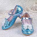 povoljno Male štikle za djevojčice-Djevojčice Šljokice Cipele na petu Mala djeca (4-7s) Udobne cipele Kristal / Mašnica / Šljokice Roza / Plava Proljeće ljeto / Vjenčanje / Vjenčanje / TPE (Termoplastični elastomer)