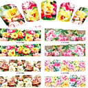 cheap Water Transfer Nail Stickers-8 pcs Flower / Cartoon / Fashion Water Transfer Sticker / Nail Jewelry Lovely Daily