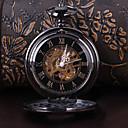 ieftine Ceas de buzunar-Bărbați Mecanism automat ceas mecanic Ceas de buzunar Gravură scobită Aliaj Bandă Lux Negru