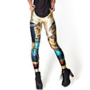 abordables Adhesivos de Pared-Mujer Estampado Legging - Galaxia, Estampado Media cintura