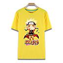 preiswerte Zeichentrick - Kapuzenpullover & Pullover-Inspiriert von Naruto Naruto Uzumaki Anime Cosplay Kostüme Cosplay-T-Shirt Druck Kurzarm Top Für Herrn Halloween Kostüme