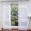 זול וילונות שקופים-מודרני Sheer וילונות גוונים שני פנאלים חדר אוכל   Curtains / חדר שינה
