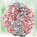 """זול פרחי חתונה-פרחי חתונה זרים חתונה מסיבה\אירוע ערב שזירה תחרה אבן נוצצת פּוֹלִיאֶסטֶר מֶשִׁי קֶצֶף 9.84""""(לערך.25ס""""מ)"""