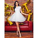 hesapli Düğün Hediyeleri-Prenses Taşlı Yaka Kısa / Mini Tül / Boncuklu Dantel Boncuklama / Aplik ile Balo / Resmi Akşam Elbise tarafından TS Couture® / Açık Sırtlı
