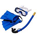 baratos Mascaras de Mergulho, Snorkels & Pés de Pato-Kit para Snorkeling / Pacotes de Mergulho - Máscara de mergulho, Nadadeiras de Mergulho, Snorkel - Snorkel Seco, Pala Curta Natação,