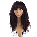 cheap Synthetic Capless Wigs-Synthetic Wig kinky Straight With Bangs Synthetic Hair Heat Resistant Black / Brown Wig Women's Long Lace Front Black Brown Fuxia