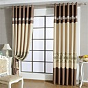 cheap Curtains Drapes-Curtains Drapes Living Room Patchwork Polyester Hollow Out
