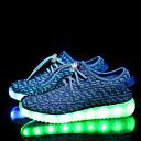 billige Sneakers til damer-Pige Drenge Sko Tyl Forår Efterår Komfort Sneakers LED Snøring for Afslappet Sort Lyserød Blå Grøn