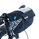 preiswerte Fahrradlenkertaschen-ROSWHEEL 3 L Fahrradlenkertasche Feuchtigkeitsundurchlässig, tragbar, Stoßfest Fahrradtasche PU-Leder / Stoff / Maschen Tasche für das Rad Fahrradtasche Radsport / Fahhrad / Wasserdichter Verschluß